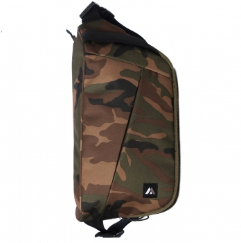 Woodland Camo Sling Messenger Bag