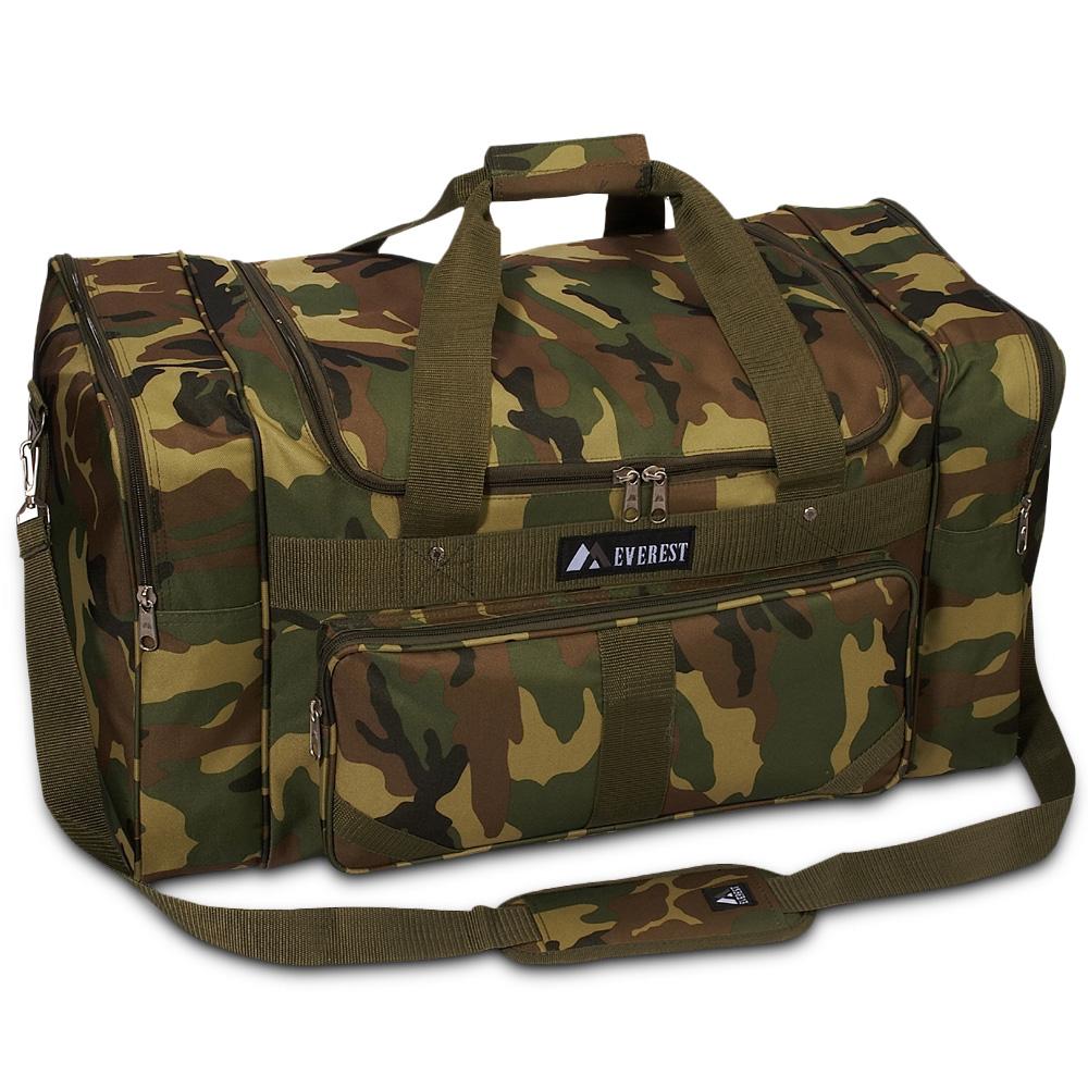 Everest Woodland Camo Duffel Bag