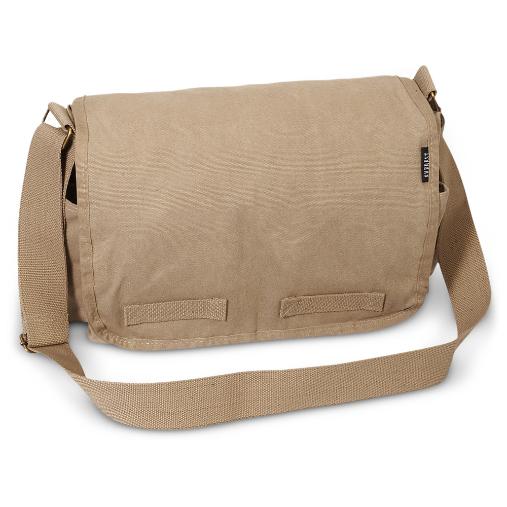 Everest Canvas Messenger - Large - Free Shipping
